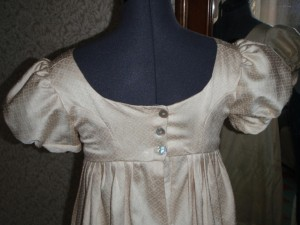 My first Regency gown close up back