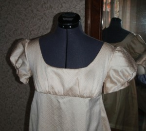 My first Regency gown close up