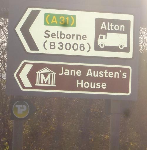 Jane Austen's House sign