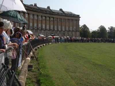 All lined up along the Royal Crescent