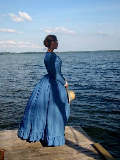 My blue Victorian dress