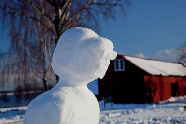 Victorian snow lady