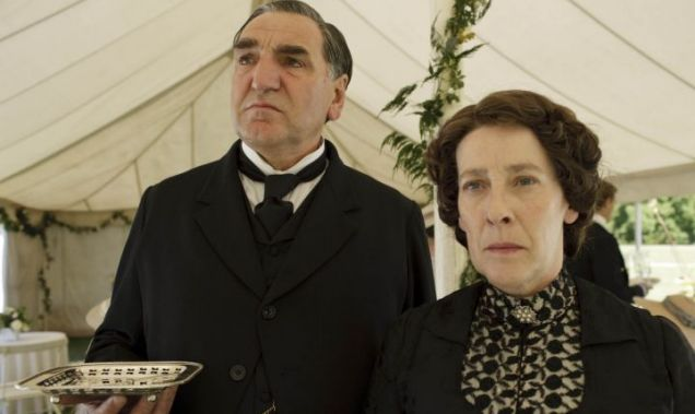Downton Abbey butler and housekeeper